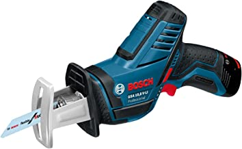 Bosch GSA 10,8 V-LI Professional - Sierra de sable (Iones de litio, 12 V, 2 Ah, 1.2 kg) Negro, Azul