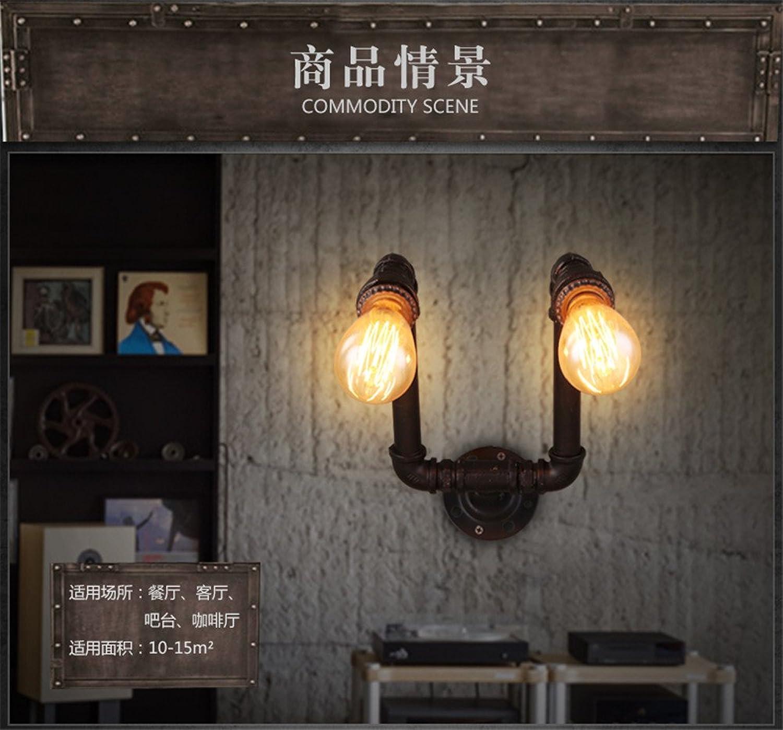 JJZHG Wandleuchte Wandlampe Wasserdicht Wandbeleuchtung Kreative Wasserleitung-Wandlampe des Retro- Gangtreppenhausbalkonbar-Bekleidungsgeschfts beinhaltet  Wandlampe,stoere wandlampen