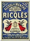 Affiches 50X70cm PUB Retro Alcool DE Menthe RICQLES