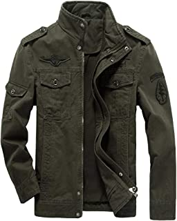 Men's Military Jacket Casual Cotton Outdoor Windbreaker Jacket