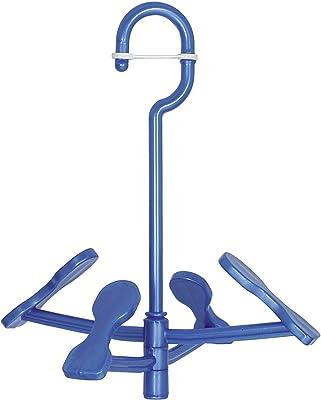 オーエ シューズハンガー ブルー 約縦28×横23×高さ4.5cm マイランドリー2 フットくん 回転式 靴 2足 干せる