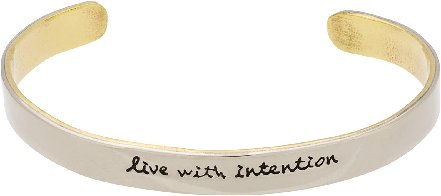 Inspired Goods Live with Intention Cuff Bracelet