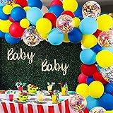 Juego de 105 globos redondos de látex y arco iris, multicolor precargado para carnaval, boda, cumpleaños, aniversarios