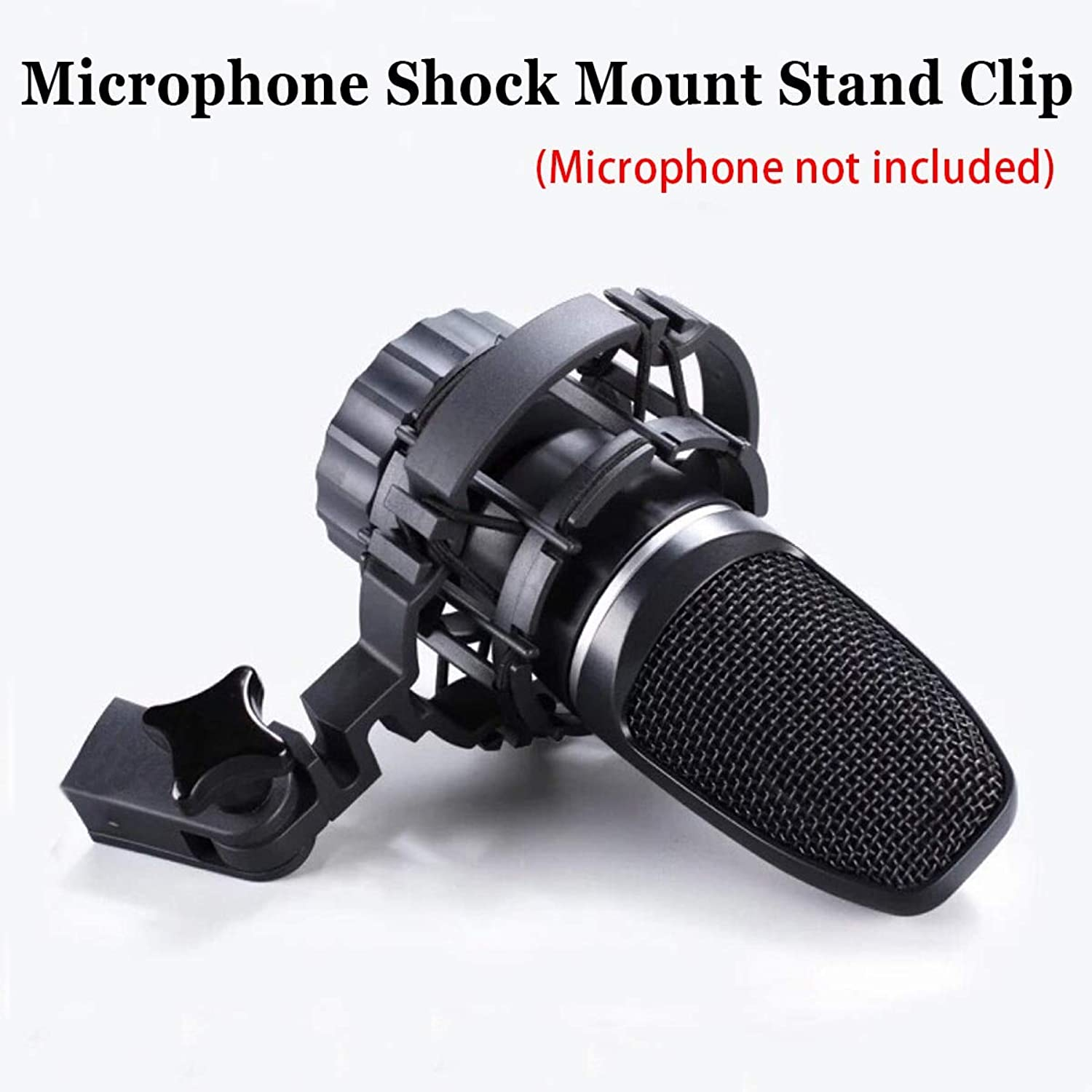 Sala-Deco - Microphone Shock Mount Stand Clip for AKG H-85 C3000 C2000 C4000 C414 Anti-Vibration Professional Mic Stand for Recording Studio