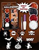 GlitZGlam Kit de Tatuajes de Purpurina para Halloween - ¡Hipoalergénicos y testeados dermatológicamente!