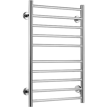 Round Tube Stainless Steel Heated Towel Rail Warmer Rack Ladder W900mmxH920mm