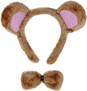 SeasonsTrading Bear Ears & Bow Tie Costume Set - Halloween Costume Party Kit