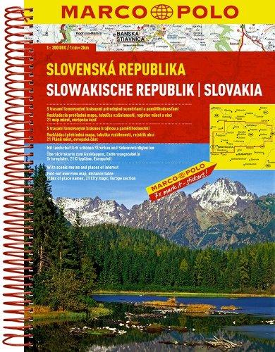 Slowakische Republik 1:200 000 (Spiralbindung): Wegenatlas 1:200 000 (MARCO POLO Reiseatlanten)