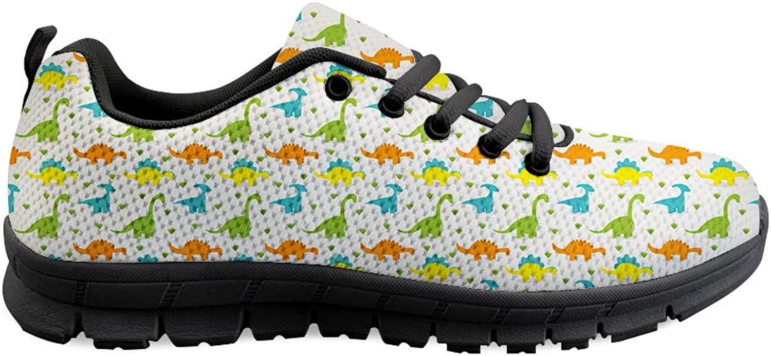 Owaheson Lace-up Sneaker Training shoes Mens Womens Advancing Jurassic Dinosaur