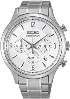 Seiko Men's Quartz Watch, Analog Display and Stainless Steel Strap SSB337P1