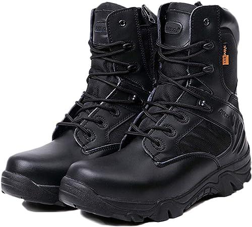 Liabb Hommes Desert Military Combat Bottes Delta Forces Spéciales Chaussures De Sécurité Armée Armée Tactiques Botte Alpinisme en Plein Air Chaussure De Randonnée,noir,40