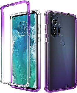 Motorola Edge+ Case, Onyxii Full-Body Rugged Ultra Transparency Hybrid Protective Case for Motorola Edge Plus (Purple)