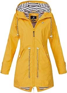 Macondoo Women's Fashion Outdoor Outerwear Windbreaker Coat Hoodie Jackets