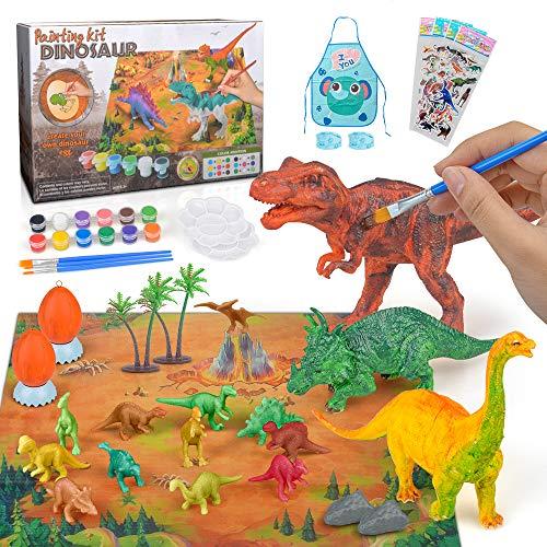 Artes Manualidades Kits Pintura Dinosaurios para Niños Chico Niña 6 7 8 años Juguetes Pintura Dinosaurios Bricolaje Manualidades Herramientas Bricolaje Kit Herramientas Regalo Juguete 5-12 años Niños
