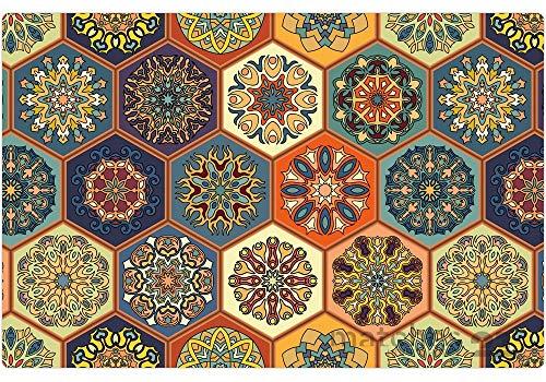matches21 Orientalische Tischsets Platzsets MOTIV Marokko bunte Fliesen/Mosaik Optik 4er Set Kunststoff je 43,5x28,5 cm abwaschbar