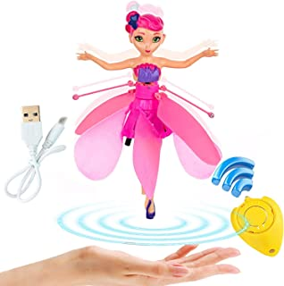 litytlen Flying Fairy Doll Girl Infrared Sensor Control Remote Control Child Toy, Magic and Best Gift for 6 Year Old Girl Kids Toy. Flying Princess Doll (Pink)