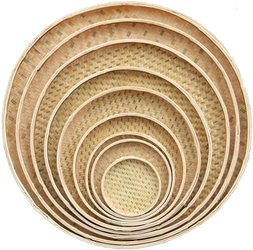 Dingng Limited price Max 56% OFF Pure Hand-Made Bamboo Pla Basket Storage