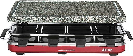 SPRING Raclette 8 Granit-Stein rot