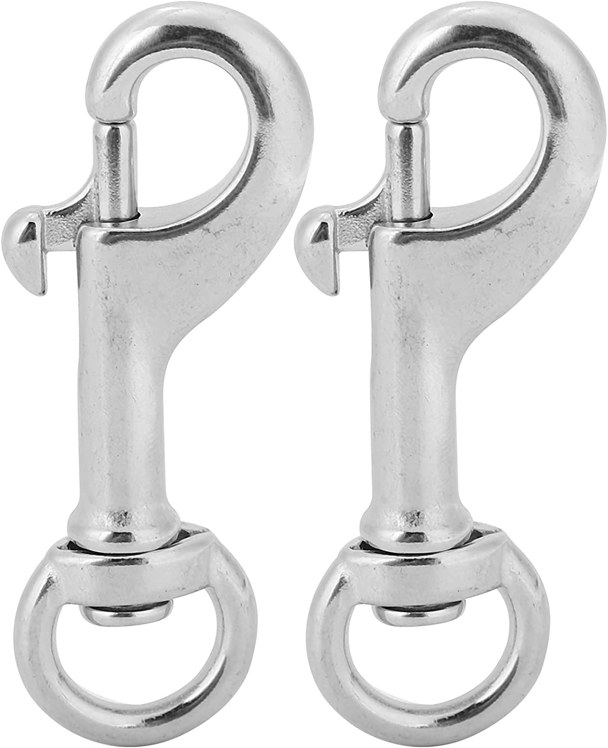 Ladieshow 2pcs 2021new shipping free 68MM Diving 316 Stainless Eye Cheap mail order shopping Steel Swivel H Snap