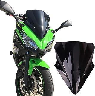 Kemimoto Compatible With Kawasaki Ninja 650 Windscreen Windshield 2017 2018 2019 Black