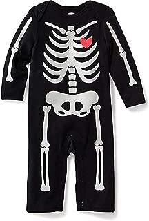 Baby Boy's 0-3 Months Black Glow-in-The-Dark Halloween Pajama Sleeper, Romper