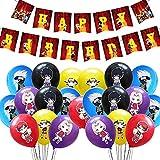 Naruto Geburtstag Party Thema Kleid Japanische Anime Flagge Luftballon Dekoration für Geburtstag Party