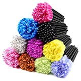 Disposable Mascara Wands 500PCS, Disposable Mascara Applicators Multicolored 10 colors, ECBASKET Mascara Brushes, Eyelash Eyebrow Brushes, Cosmetic Brush Makeup Tools Kit