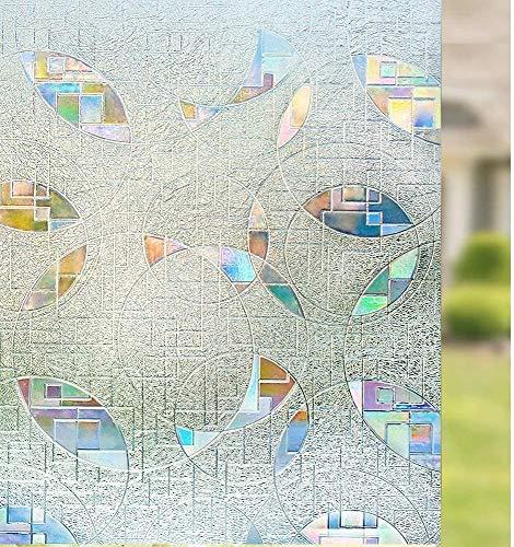 LMKJ Película de privacidad de Ventana autoadhesiva estática 3D, no se Puede Quitar Pegamento para Adaptarse a la Ventana, película para teñir Ventanas Anti-UV A87 60x200cm