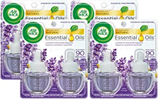 Air Wick Scented Oil 8 Refills, Lavender & Chamomile, (4X2x0.67oz), Air Freshener