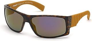 نظارات شمسية مستقطبة للرجال من تيمبرلاند، لون هافانا داكن، مقاس 68-15-125 ملم، TB9215