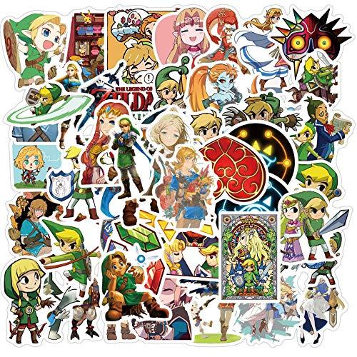 Zelda Legend Graffiti Pegatina Equipaje Motocicleta Monopatín Cuaderno Impermeable 50 Piezas