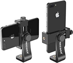 Neewer Smartphone Holder Vertical Bracket with 1/4-inch Tripod Mount - Phone Clip Tripod Adapter for iPhone Xs MAX/XS/XR/X/ 8, Samsung S9+/ S9/ S8 and Other Phones Within 1.9-3.9 inches Width