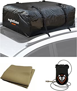 Rightline Gear 100A50 Ace Jr Car Top Carrier, 9 cu ft with Roof Pad and Lock