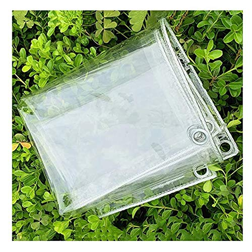 SHIJINHAO Rain And Dust Resistant Transparent Tarpaulin Plant Insulation Blanket Soft Transparent PVC Film Metal Grommet Outdoor Patio Awning, 50 Sizes (Color : Clear, Size : 1.8x9m)
