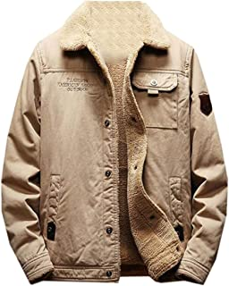 Fensajomon Mens Plus Size Pu Leather Stitching Stand Collar Warm Fall /& Winter Quilted Jacket Coat Outerwear