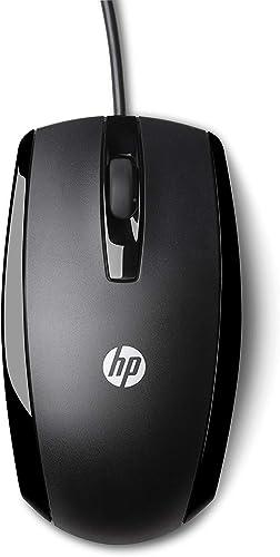 HP X500 - Souris Filaire Noire (USB, Ambidextre)