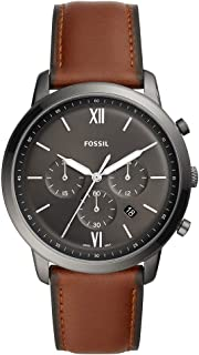 Fossil Men's Quartz Watch chronograph Display and Leather Strap, FS5512