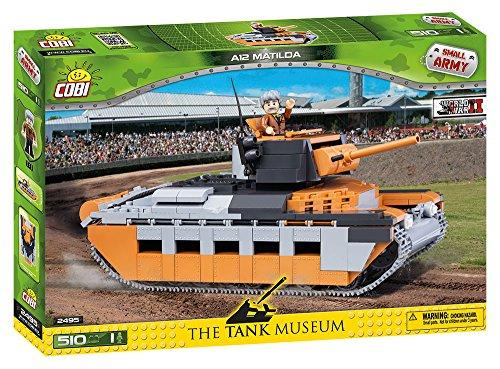 Tank A12 Matilda Blocos Para Montar com 510 Peças Cobi Blocos de Montar Cinza