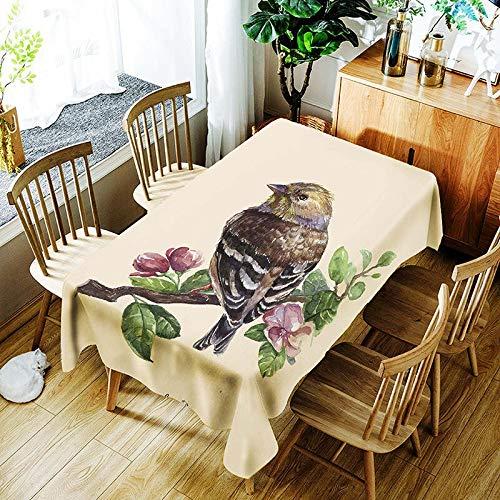 XXDD Mantel de Plumas de Colores Creativo pájaro Flor Retro patrón cómodo Impermeable Cubierta de Tela para el hogar A7 135x200cm