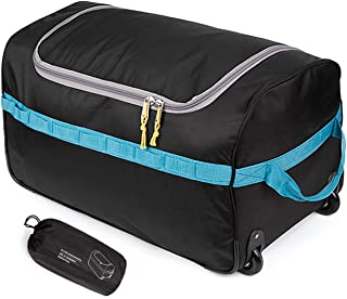Foldable Duffle Bag with Wheels 85L 26