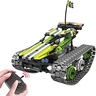 Remote Control Car for Boys - RC Tracked Racer Building Blocks Set Kit, Fun, Educational, Learning, STEM Toys for Kids Age...