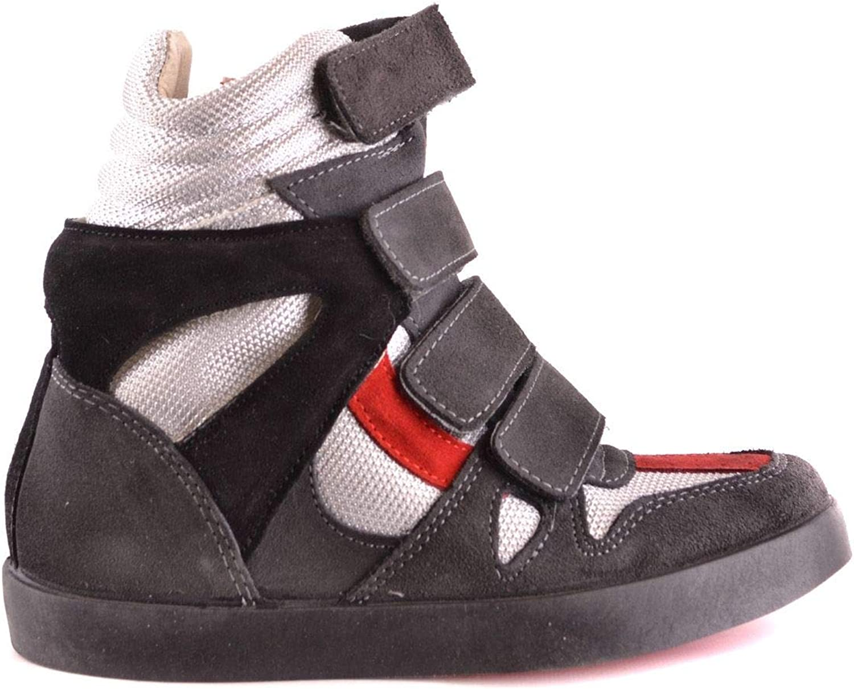 ISHIKAWA Women's MCBI31157 Grey Suede Ankle Boots