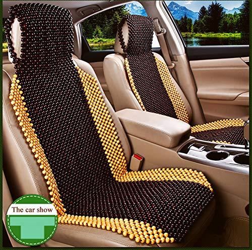 ZLQF Kwaliteit Camel Gekleurde Houten Kralen Auto Stoel Cover,1PC