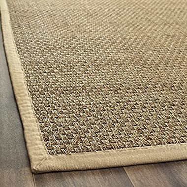 Safavieh Natural Fiber Collection NF114A Basketweave Natural and Beige Summer Seagrass Area Rug (2' x 3')