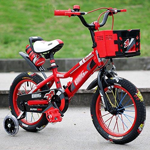 sheng Kinderfahrrad Cross Country Reifen Männer und Frauen Mountainbike 1-8 Jahre gelten rot ( Farbe : Rot , größe : 16inch )