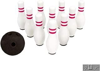 JEWELS FASHION Cute Mini Bowling Set of 10 Pins and 1 Ball (1 PACK)