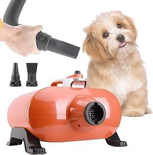 CMmin 3000W Secador de Pelo de Perro Blaster Secador de Pelo de Aseo for Mascotas Secador de Moto de Alta Velocidad Bajo Ruido con 3 boquillas Manguera de 2M Máquina de soplado de Agua for Perros sin