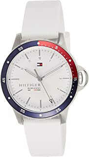 Tommy Hilfiger 1782029 Womens Quartz Watch, Analog Display and Silicone Strap, White