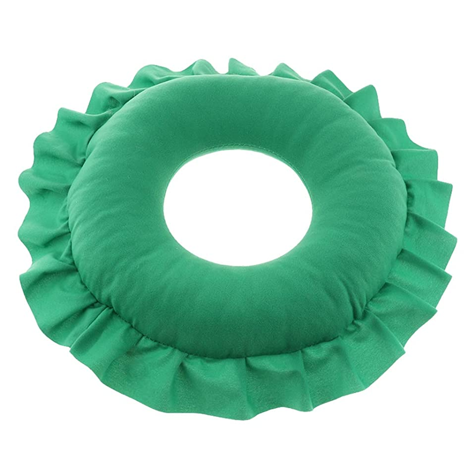 墓地イサカストレージD DOLITY マッサージ枕 顔枕 マッサージピロー 美容院 柔らかくて快適 取り外し可能 洗える 全4色 - 緑