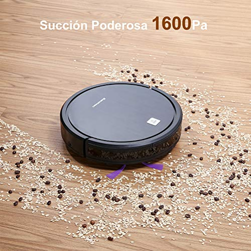 EXCELVAN Robot Aspirador Aspiradora, Succión 1600Pa, Autonomía ...
